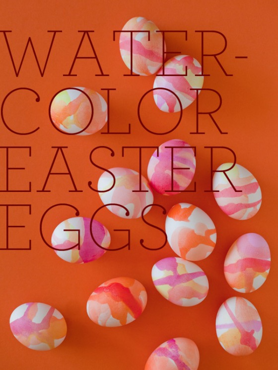 Watercolor Easter Eggs vis Spoon Fork Bacon